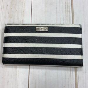 KATE ♠️ SPADE WALLET Black & White Striped
